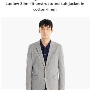 J.Crew ludlow jacket in unstructured cotton linen